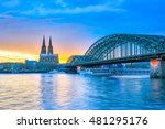 the cologne cathedral in... | Shutterstock . vector #481295176