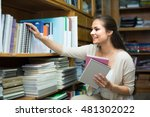 young smiling woman...   Shutterstock . vector #481302022