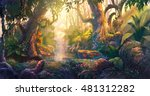 Sunset In Fantasy Forest...