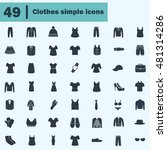 set of forty nine clothes icons | Shutterstock .eps vector #481314286