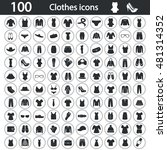 set of one hundred clothes icons | Shutterstock .eps vector #481314352