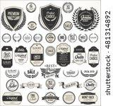 retro vintage shields laurel... | Shutterstock .eps vector #481314892