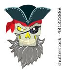 danger pirate skeleton in... | Shutterstock .eps vector #481323886