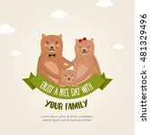 greeting card template with... | Shutterstock .eps vector #481329496