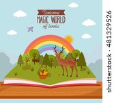 fairy tale concept. kids... | Shutterstock .eps vector #481329526