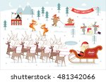 christmas  winter scene vector... | Shutterstock .eps vector #481342066