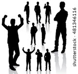 vector silhouettes. different... | Shutterstock .eps vector #481346116