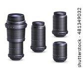 set of digital camera lenses.... | Shutterstock .eps vector #481349032