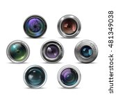 set of colorful camera photo... | Shutterstock .eps vector #481349038