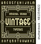 original retro typeface set... | Shutterstock .eps vector #481354822