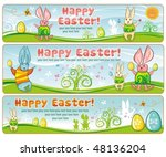 easter banners with space for... | Shutterstock .eps vector #48136204