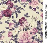 seamless floral pattern with... | Shutterstock . vector #481364752