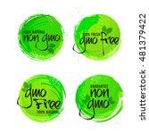 non gmo or gmo free stickers... | Shutterstock .eps vector #481379422