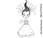 ink illustrated decorative cute ... | Shutterstock . vector #481379542