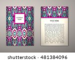 flyer template with abstract... | Shutterstock .eps vector #481384096
