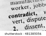 Small photo of Contradict