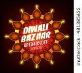 diwali bazaar banner  creative... | Shutterstock .eps vector #481385632