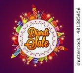 diwali sale banner  sale and...   Shutterstock .eps vector #481385656