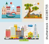 modern flat design conceptual...   Shutterstock .eps vector #481385755