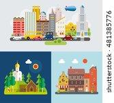 modern flat design conceptual... | Shutterstock .eps vector #481385776