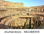 Inside Of Colosseum In Rome ...