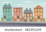 vector cartoon retro... | Shutterstock .eps vector #481391245
