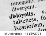 Small photo of Disloyalty