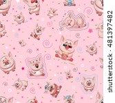 stock vector seamless pattern... | Shutterstock .eps vector #481397482