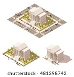 vector isometric low poly... | Shutterstock .eps vector #481398742