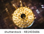church candle for meditation... | Shutterstock . vector #481403686