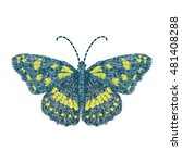 embroidery butterfly design for ... | Shutterstock .eps vector #481408288
