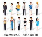 set of diverse occupation... | Shutterstock .eps vector #481410148