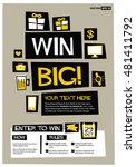 win big   flat style vector... | Shutterstock .eps vector #481411792