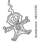 cartoon man gets an electric... | Shutterstock .eps vector #48141550