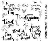 happy thanksgiving day... | Shutterstock .eps vector #481416202