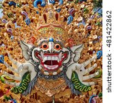 traditional barong mask pattern ... | Shutterstock . vector #481422862