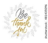 thanksgiving greeting card be... | Shutterstock .eps vector #481435096