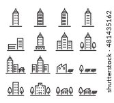 building icon set.line vector. | Shutterstock .eps vector #481435162