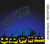 background for halloween party  ...   Shutterstock .eps vector #481437682