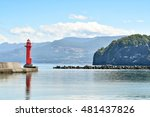 otaru harbor and light house...   Shutterstock . vector #481437826