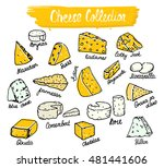 cheese collection. vector... | Shutterstock .eps vector #481441606