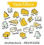cheese collection. vector... | Shutterstock .eps vector #481441606