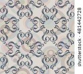 music seamless pattern   Shutterstock .eps vector #481442728