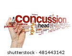 concussion word cloud | Shutterstock . vector #481443142