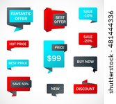 vector stickers  price tag ... | Shutterstock .eps vector #481444336