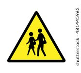 School Sign. Yellow And Black...
