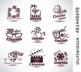 cinema vector symbols and retro ... | Shutterstock .eps vector #481448698