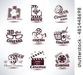cinema vector symbols and retro ... | Shutterstock .eps vector #481448698