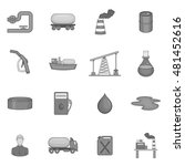 oil industry icons set in black ... | Shutterstock .eps vector #481452616