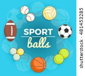 set of colorful sport balls at... | Shutterstock .eps vector #481453285
